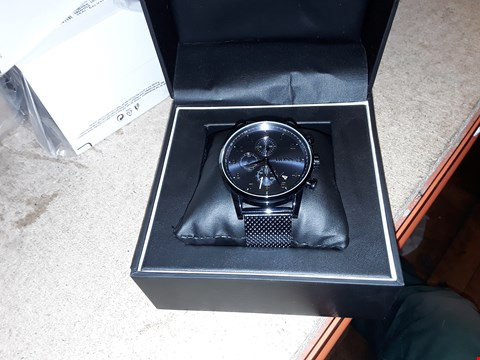 Lot 9219 HUGO BOSS BLACK NAVIGATOR BLUE DIAL WRIST WATCH RRP £399.00
