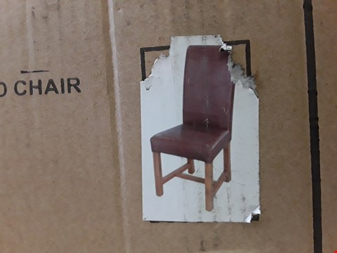 Lot 325 BOXED SET OF 2 DESIGNER CHICAGO EASTWOOD SANDLE WOOD CHAIRS