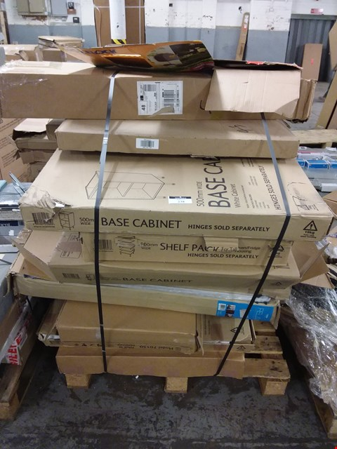 Lot 238 PALLET OF ASSORTED FLAT PACK KITCHEN UNITS  RRP £856