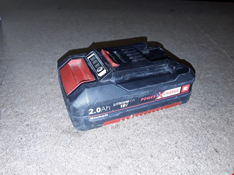 Lot 10439 EINHELL 4511395 2.0 AH POWER X-CHANGE LITHIUM BATTERY COMPATIBLE WITH ALL POWER X-CHANGE PRODUCTS - RED