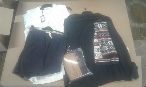 Lot 7074 BOX OF APPROXIMATELY 90 X ASSORTED CLOTHING ITEMS TO INCLUDE MENS BOXER SETS, JUMPERS AND TIES