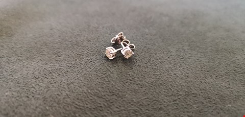 Lot 71 18CT WHITE GOLD STUD EARRINGS SET WITH DIAMONDS WEIGHING +0.50CT  RRP £1700.00