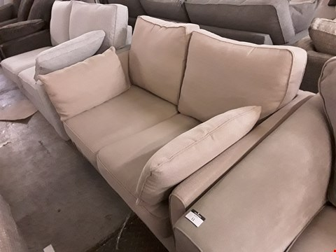 Lot 7 QUALITY BRITISH DESIGNER OYSTER FABRIC BOND STREET 2 SEATER SOFA