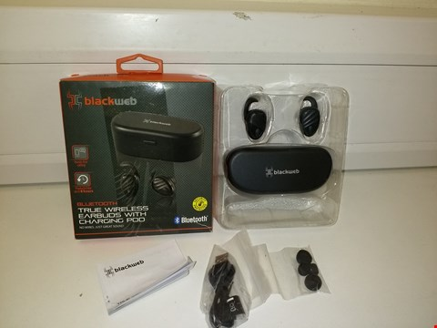 Lot 3015 BLACKWEB BLUETOOTH TRUE WIRELESS EARBUDS WITH CHARGING CASE IN BLACK