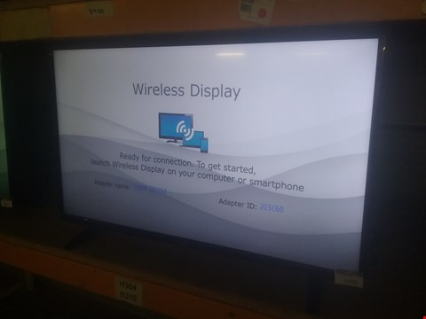 Lot 1058 LUXOR 43 INCH FULL HD, FREEVIEW HD, LED, SMART TV LUX0143002 RRP £350