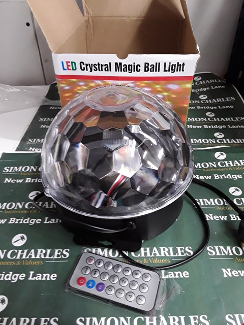 Lot 5185 THREE BOXED LED CRYSTAL MAGIC BALL LIGHTS WITH REMOTE