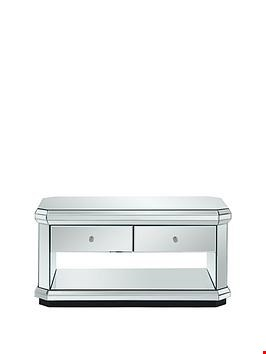 Lot 2001 BOXED GRADE 1 MIRRORED PLINTH COFFEE TABLE (1 BOX) RRP £249.99