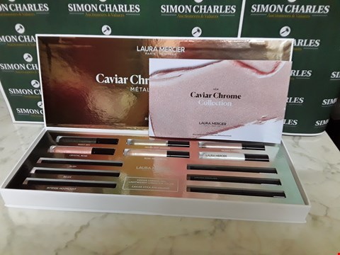 Lot 12007 LAURA MERCIER STYLE 12PC CAVIAR CHROME COLLECTION