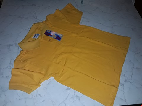 Lot 15107 BOX OF APPROXIMATELY 100 YELLOW BOTS POLO SHIRTS IN VARIOUS SIZES
