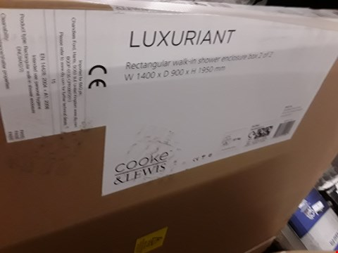 Lot 5 COOKE & LEWIS LUXURIANT WALK IN SHOWER ENCLOSURE (2 BOXES) RRP £258