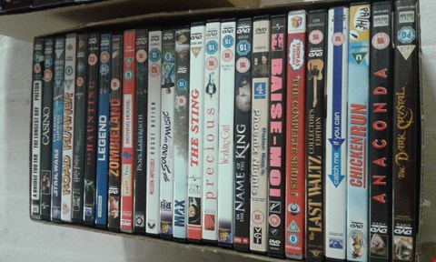 Lot 15689 A BOX OF ASSORTED DVDS TO INCLUDE CASINO FILM DVD AND CHICKEN RUN DVD