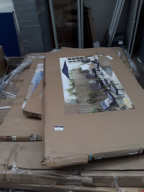 Lot 412 PALLET OF ASSORTED FLAT PACK FURNITURE PARTS