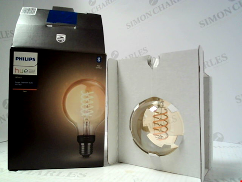 Lot 15972 PHILIPS HUE WHITE SINLGE FILAMENT BULB G93 E27