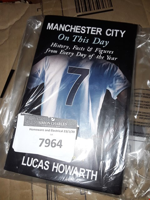 Lot 7964 PERSONALISED MANCHESTER CITY ON THIS DAY BOOK RRP £17.99