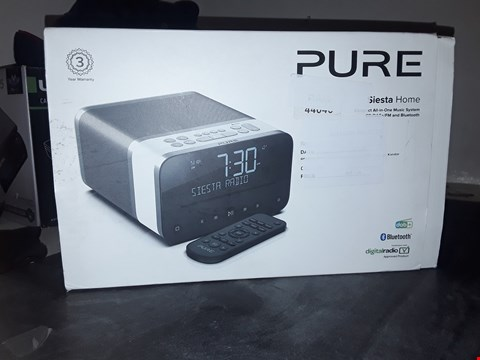 Lot 5298 PURE SIESTA HOME - COMPACT ALL-IN-ONE MUSIC SYSTEM DAB+/DAB/FM DIGITAL RADIO ALARM CLOCK - DAB RADIO WITH CD PLAYER, REMOTE CONTROL, USB PHONE CHARGING, CRYSTALVUE LCD DISPLAY AND BLUETOOTH - POLAR