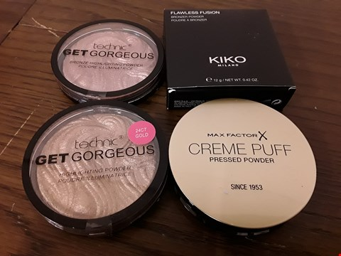 Lot 8016 LOT OF 4 ASSORTED BEAUTY POWDERS TO INCLUDE KIKO, MAX FACTOR X AND TECHNIC