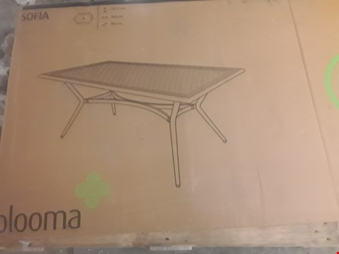Lot 29 BOXED BLOOMA SOFIA GARDEN TABLE