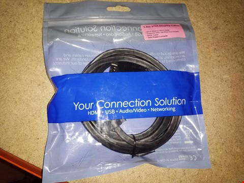 Lot 6334 BOX OF APPROXIMATELY 10 ASSORTED 1.8M VGA DISPLAY CABLES
