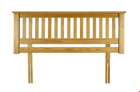 Lot 19 BARCELONA WOODEN HEADBOARD RRP £86
