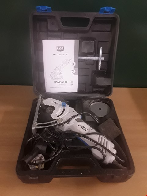 Lot 97 MACALLISTER MINI SAW 500W WITH CASE RRP £35
