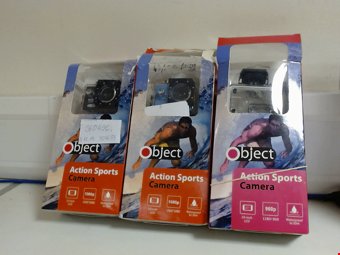 Lot 5353 QUANTITY OF 3 OBJECT ACTION CAMERAS