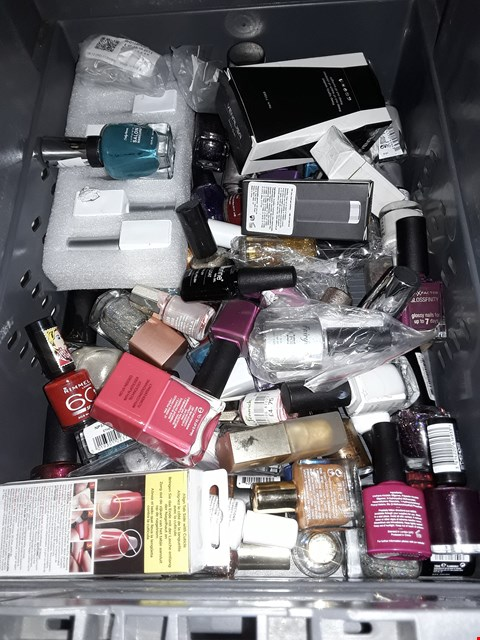 Lot 5087 BOX OF ASSORTED NAIL POLISH & JELL