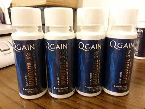 Lot 8039 LOT OF 4 QGAIN 60ML MINOXIDIL 5% LOW ALCOHOL HAIR REGROWTH TREATMENTS
