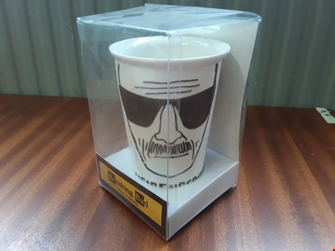Lot 13531 BOX OF APPROXIMATELY 30 BREAKING BAD OFFICIAL TRAVEL MUGS