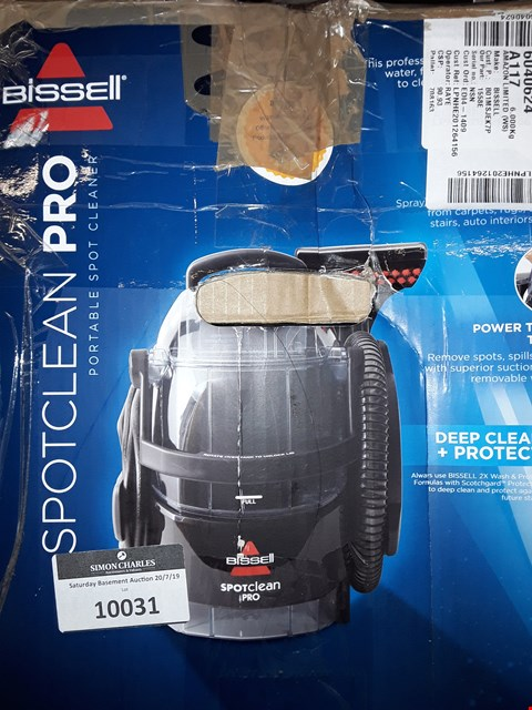 Lot 10030 BISSELL SPOT CLEAN PRO PORTABLE CARPET WASHER