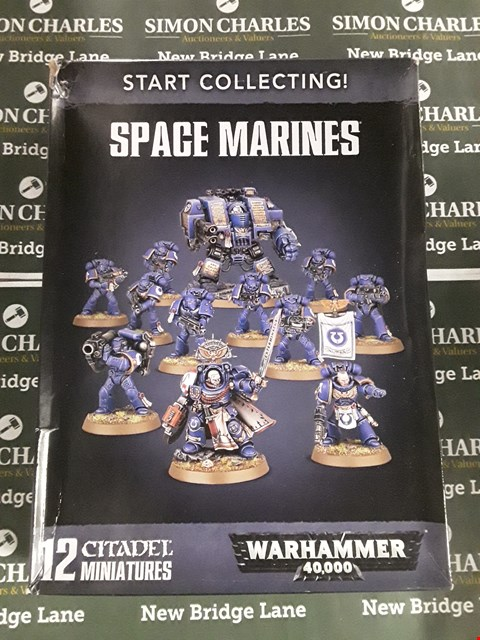Lot 608 LOT OF 4 ASSORTED WARHAMMER 40,000 ITEMS TO INCLUDE COMPANY VETERANS SQUAD, SPACE MARINE LAND SPEEDER, SPACE MARINE CHAPLAIN WITH SKULL HELMET AND SPACE MARINES STARTER PACK