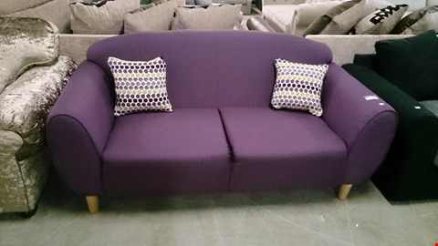 Lot 1228 DESIGNER PURPLE FABRIC 2 SEATER SOFA