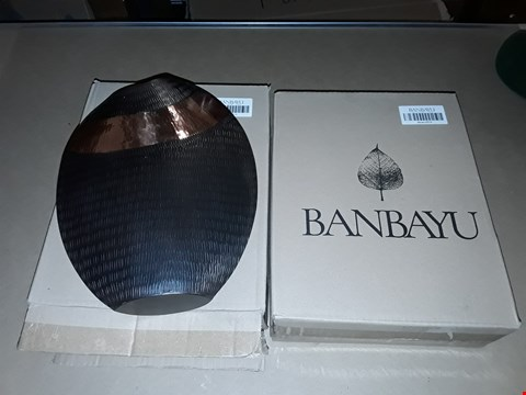 Lot 53 LOT OF 2 BOXED BANBAYU TWO-TONE VASES