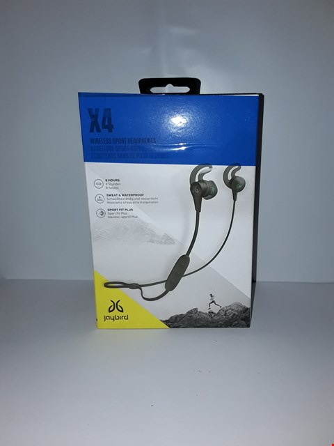 Lot 4042 JAYBIRD X4 SPORT AND RUNNING, WIRELESS BLUETOOTH HEADPHONES