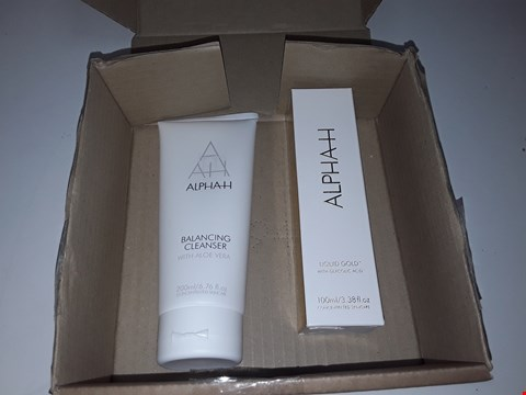 Lot 667 ALPHAH BALANCING CLEANSER WITH ALOE VERA 200ML/LIQUID GOLD WITH GLYCOLIC ACID CONCENTRATED SKINCARE 100ML