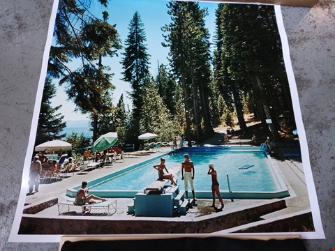 Lot 14014 POOL AT LAKE TAHOE 1959 SLIM AARONS COLLECTION/GETTY IMAGES C TYPE PHOTOGRAPH