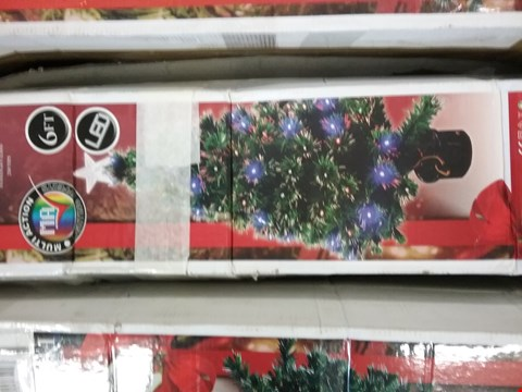 Lot 1607 BOXED 6FT FIBRE OPTIC TREE WITH STAR