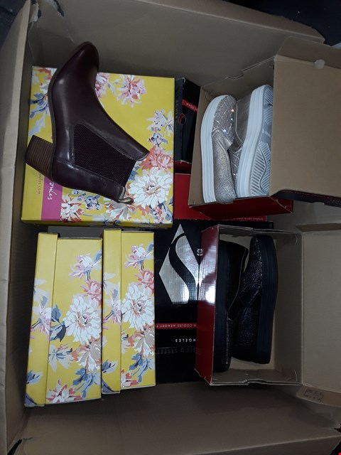 Lot 1090 LOT OF APPROXIMATELY 11 PAIRS OF ASSORTED SHOES TO INCLUDE SKETCHERS, JOULES
