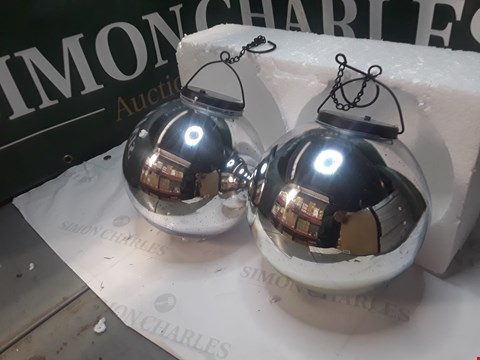 Lot 1254 LANGDONS SET OF 2 SOLAR STARGAZING SPHERES