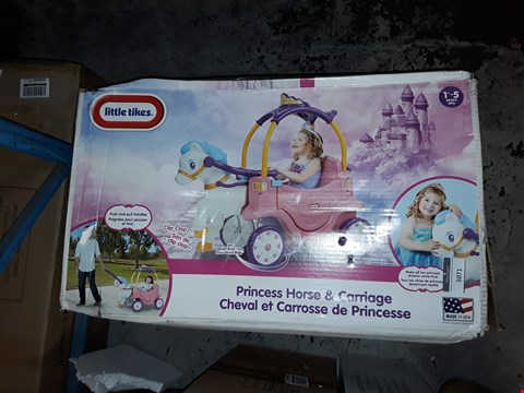 Lot 5071 GEADE 1 BOXED LITTLE TIKES PRINCESS COSY HORSE CHARIOT  RRP £139.99