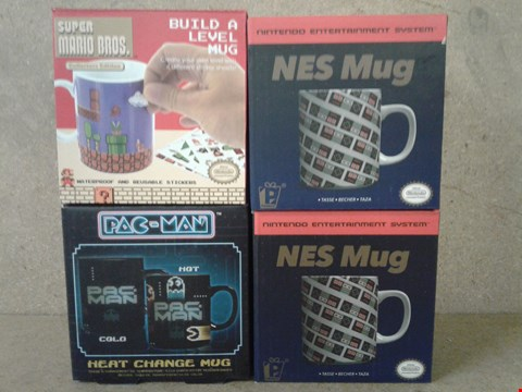 Lot 498 4 BRAND NEW BOXED NES MUGS , SUPER MARIO BROS AND PAC MAN