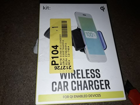 Lot 401 LOT OF 2 KIT WIRELESS CAR CHARGERS