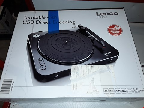 Lot 12754 LENCO L-85 TURNTABLE - BLACK