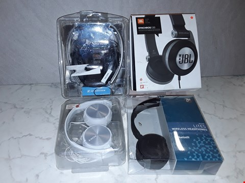Lot 6193 LOT OF 4 SETS OF OVERHEAD EARPHONES TO INCLUDE JBL, SONY AND GOJI