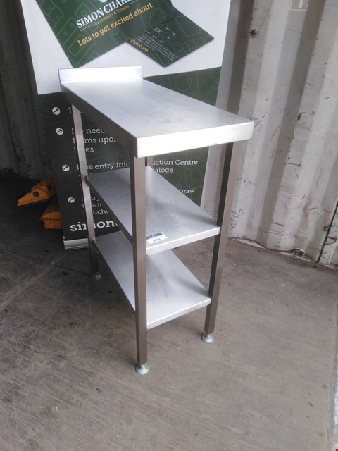 Lot 3009 STAINLESS STEEL 3 TIER SHELVING UNIT