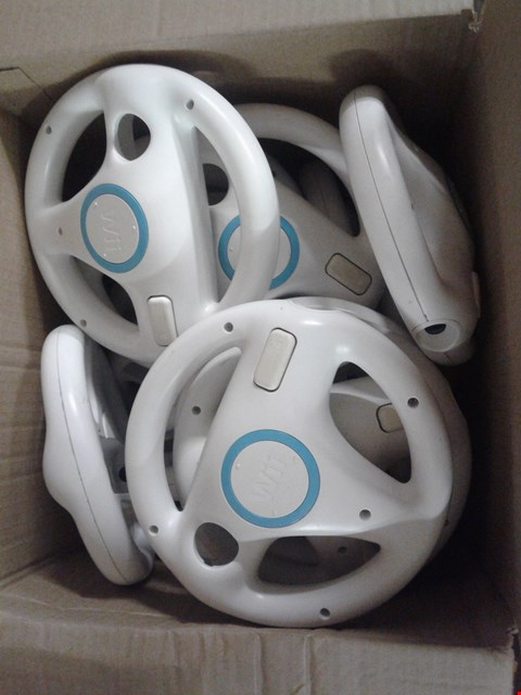 Lot 4853 BOX OF ASSORTED WII WHEELS
