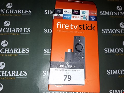 Lot 79 FIRE TV STICK WITH ALEXA VOICE REMOTE