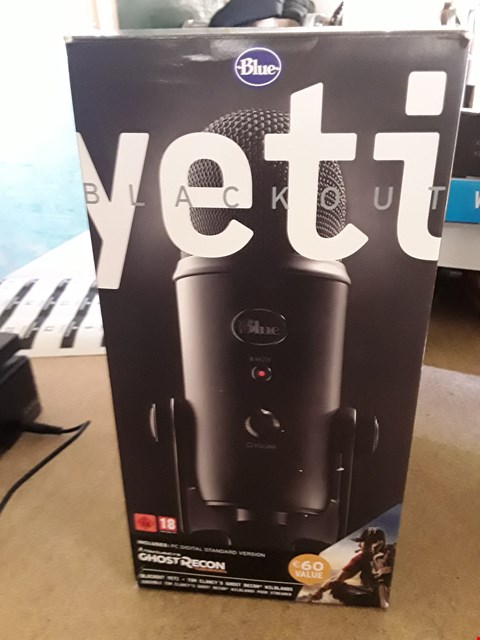 Lot 1 BOXED YETI BLACKOUT USB PROFESSIONAL MICROPHONE
