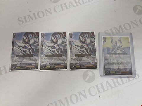 Lot 7177 LOT OF 4 ASSORTED CARD FIGHT! VANGUARD CARDS TO INCLUDE 3X BLASTER BLADE SEEKER AND SEEKER, THING SAVER DRAGON