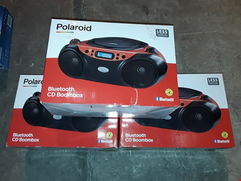 Lot 4588 LOT OF 3 POLAROID BLUETOOTH CD BOOMBOXES