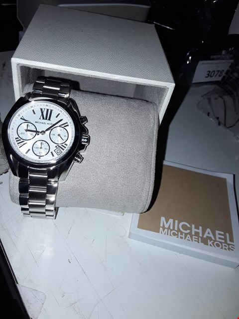 Lot 3080 MICHAEL KORS MINI BRADSHAW STAINLESS STEEL WATCH RRP £329.00
